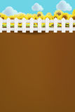 Вектор предпосылки природы поля цветка Солнця Стоковая Фотография RF