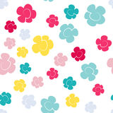 вектор предпосылки флористический безшовный Вегетативная картина лета Стоковая Фотография