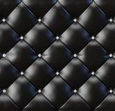 вектор предпосылки черный кожаный Стоковые Фотографии RF