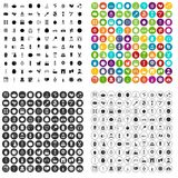100 вектор продукта красоты установленный значками различный Стоковые Фотографии RF