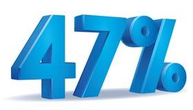 Вектор процента, 47 Стоковые Фотографии RF
