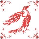 вектор птицы декоративный иллюстрация вектора