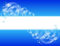 вектор пузыря предпосылки голубой Стоковые Изображения