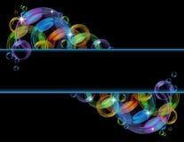 вектор пузыря предпосылки цветастый Стоковые Фотографии RF