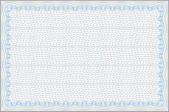 вектор пустого сертификата обеспеченный Стоковые Изображения