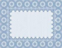вектор пустого сертификата обеспеченный иллюстрация штока