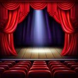 Вектор пустого этапа концертного зала реалистический иллюстрация вектора
