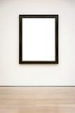 Вектор пути клиппирования стены рамки музея современного искусства изолированный белый Стоковые Изображения RF