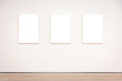 Вектор пути клиппирования стены рамки музея современного искусства изолированный белый Стоковая Фотография