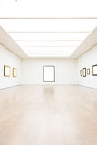 Вектор пути клиппирования стены рамки музея современного искусства изолированный белый Стоковое Изображение RF