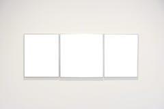 Вектор пути клиппирования стены рамки музея современного искусства изолированный белый Стоковые Изображения