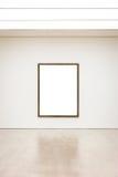 Вектор пути клиппирования стены рамки музея современного искусства изолированный белый Стоковое Фото