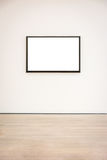 Вектор пути клиппирования стены рамки музея современного искусства изолированный белый Стоковые Фотографии RF