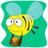 Вектор пчелы и меда Стоковые Изображения