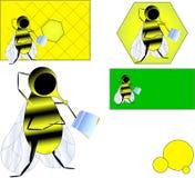 вектор пчелы Стоковые Изображения RF