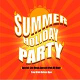 Вектор плаката партии летнего отпуска Стоковое Фото