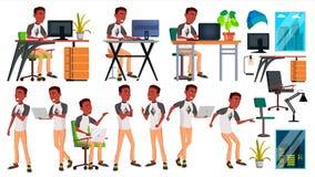 Вектор работника офиса Работник бизнесмена черный afoul представления Фронт, взгляд со стороны счастливая работа Партнер, клерк,  бесплатная иллюстрация