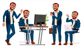 Вектор работника офиса r представления Персона бизнесмена турок Фронт, взгляд со стороны Сь экзекьютив бесплатная иллюстрация