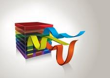 вектор радуги кубика принципиальной схемы предпосылки Иллюстрация штока