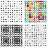 100 вектор разработки программного обеспечения установленный значками различный Стоковая Фотография
