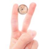 вектор разрешения имеющегося евро монетки 2 высокий очень Стоковое Изображение RF
