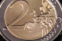 вектор разрешения имеющегося евро монетки 2 высокий очень Стоковая Фотография RF