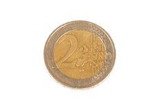 вектор разрешения имеющегося евро монетки 2 высокий очень Стоковое фото RF