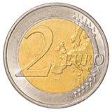 вектор разрешения имеющегося евро монетки 2 высокий очень Стоковые Фото
