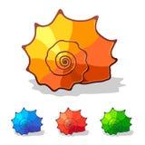 вектор раковины моря иконы иллюстрация штока