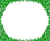 Вектор рамки Shamrock листья клевера предпосылки Святой Patricks Стоковое фото RF
