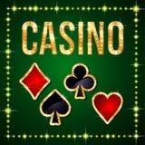 вектор растра иллюстрации казино установленный Стоковая Фотография RF