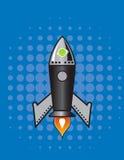 вектор ретро ракеты Стоковое Изображение RF