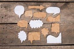 вектор речи бумаги иллюстрации элементов диалога конструкции облака пузыря Стоковая Фотография