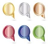 вектор речи комплекта цвета пузыря Бесплатная Иллюстрация