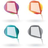 вектор речи пузыря установленный Стоковые Изображения RF