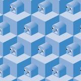 вектор робота картины кубиков Стоковое Изображение