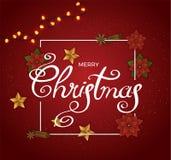 вектор рождества веселый Стоковые Изображения RF