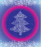 вектор рождества елевый Стоковые Изображения