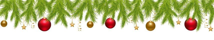 вектор рождества знамени веселый Стоковое Изображение RF
