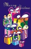 вектор рождества карточки веселый Стоковые Фотографии RF