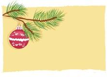 вектор рождества карточки шарика Стоковые Изображения