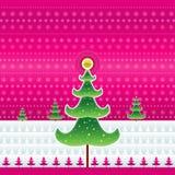 вектор рождества розовый Стоковые Фото