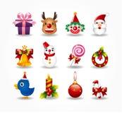 вектор рождества установленный иконами бесплатная иллюстрация
