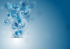 вектор рождества абстрактной предпосылки голубой Стоковое фото RF