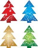 вектор рождественской елки предпосылки Стоковые Фотографии RF