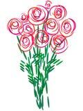 вектор роз букета Стоковое Фото