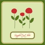 вектор роз приветствию карточки Бесплатная Иллюстрация