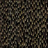 Вектор роскошной картины лент партии черного золота безшовный иллюстрация вектора