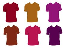 вектор рубашек Стоковые Изображения
