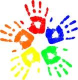 вектор руки цвета иллюстрация вектора